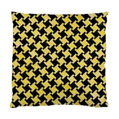 Houndstooth2 Black Marble & Yellow Watercolor Standard Cushion Case (two Sides)