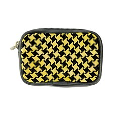 Houndstooth2 Black Marble & Yellow Watercolor Coin Purse