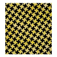 Houndstooth2 Black Marble & Yellow Watercolor Shower Curtain 66  X 72  (large)