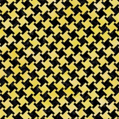 Houndstooth2 Black Marble & Yellow Watercolor Magic Photo Cubes