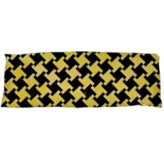 Houndstooth2 Black Marble & Yellow Watercolor Body Pillow Case Dakimakura (two Sides)