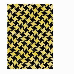 Houndstooth2 Black Marble & Yellow Watercolor Large Garden Flag (two Sides)