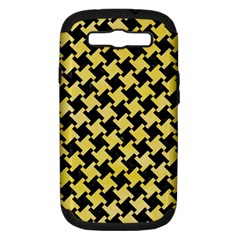 Houndstooth2 Black Marble & Yellow Watercolor Samsung Galaxy S Iii Hardshell Case (pc+silicone)