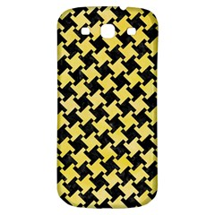 Houndstooth2 Black Marble & Yellow Watercolor Samsung Galaxy S3 S Iii Classic Hardshell Back Case