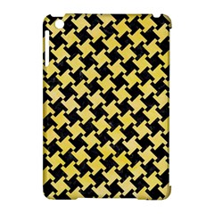 Houndstooth2 Black Marble & Yellow Watercolor Apple Ipad Mini Hardshell Case (compatible With Smart Cover)
