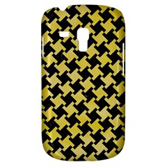 Houndstooth2 Black Marble & Yellow Watercolor Galaxy S3 Mini