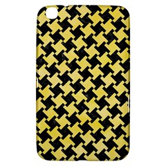 Houndstooth2 Black Marble & Yellow Watercolor Samsung Galaxy Tab 3 (8 ) T3100 Hardshell Case