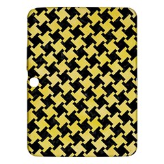 Houndstooth2 Black Marble & Yellow Watercolor Samsung Galaxy Tab 3 (10 1 ) P5200 Hardshell Case