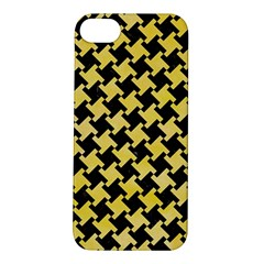 Houndstooth2 Black Marble & Yellow Watercolor Apple Iphone 5s/ Se Hardshell Case