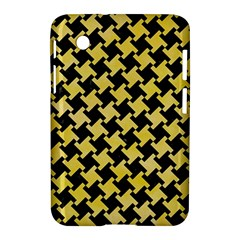Houndstooth2 Black Marble & Yellow Watercolor Samsung Galaxy Tab 2 (7 ) P3100 Hardshell Case