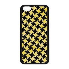 Houndstooth2 Black Marble & Yellow Watercolor Apple Iphone 5c Seamless Case (black)