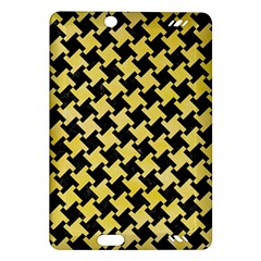 Houndstooth2 Black Marble & Yellow Watercolor Amazon Kindle Fire Hd (2013) Hardshell Case