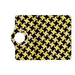 Houndstooth2 Black Marble & Yellow Watercolor Kindle Fire Hd (2013) Flip 360 Case