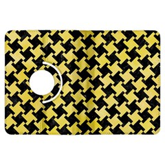 Houndstooth2 Black Marble & Yellow Watercolor Kindle Fire Hdx Flip 360 Case