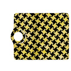 Houndstooth2 Black Marble & Yellow Watercolor Kindle Fire Hdx 8 9  Flip 360 Case