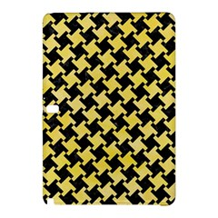 Houndstooth2 Black Marble & Yellow Watercolor Samsung Galaxy Tab Pro 12 2 Hardshell Case