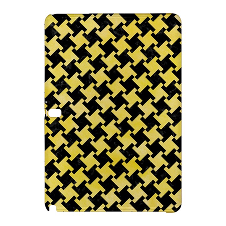 HOUNDSTOOTH2 BLACK MARBLE & YELLOW WATERCOLOR Samsung Galaxy Tab Pro 12.2 Hardshell Case