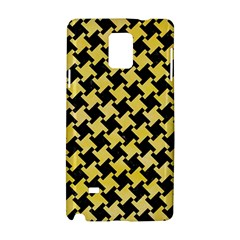 Houndstooth2 Black Marble & Yellow Watercolor Samsung Galaxy Note 4 Hardshell Case