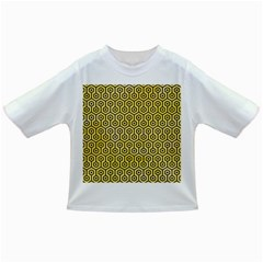 Hexagon1 Black Marble & Yellow Watercolor Infant/toddler T Shirts