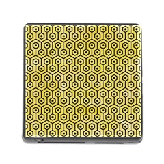 Hexagon1 Black Marble & Yellow Watercolor Memory Card Reader (square)