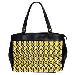 Hexagon1 Black Marble & Yellow Watercolor Office Handbags (2 Sides)