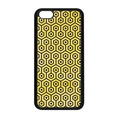 Hexagon1 Black Marble & Yellow Watercolor Apple Iphone 5c Seamless Case (black)