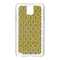 Hexagon1 Black Marble & Yellow Watercolor Samsung Galaxy Note 3 N9005 Case (white)