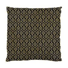 Hexagon1 Black Marble & Yellow Watercolor (r) Standard Cushion Case (two Sides)