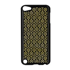 Hexagon1 Black Marble & Yellow Watercolor (r) Apple Ipod Touch 5 Case (black)