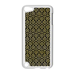Hexagon1 Black Marble & Yellow Watercolor (r) Apple Ipod Touch 5 Case (white)