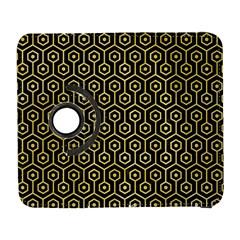 Hexagon1 Black Marble & Yellow Watercolor (r) Galaxy S3 (flip/folio)