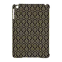 Hexagon1 Black Marble & Yellow Watercolor (r) Apple Ipad Mini Hardshell Case (compatible With Smart Cover)