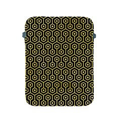 Hexagon1 Black Marble & Yellow Watercolor (r) Apple Ipad 2/3/4 Protective Soft Cases