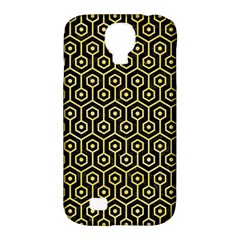 Hexagon1 Black Marble & Yellow Watercolor (r) Samsung Galaxy S4 Classic Hardshell Case (pc+silicone)