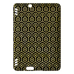 Hexagon1 Black Marble & Yellow Watercolor (r) Kindle Fire Hdx Hardshell Case