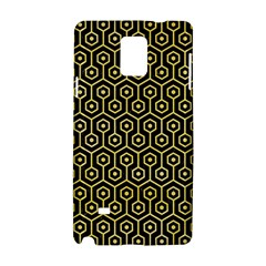 Hexagon1 Black Marble & Yellow Watercolor (r) Samsung Galaxy Note 4 Hardshell Case