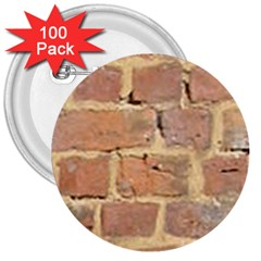 Brick Wall 3  Buttons (100 Pack)