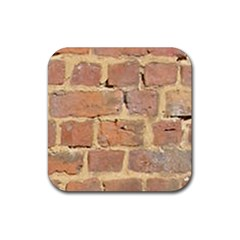 Brick Wall Rubber Square Coaster (4 Pack)
