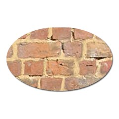 Brick Wall Oval Magnet