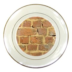 Brick Wall Porcelain Plates