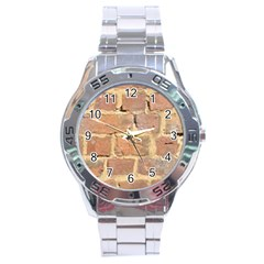 Brick Wall Stainless Steel Analogue Watch