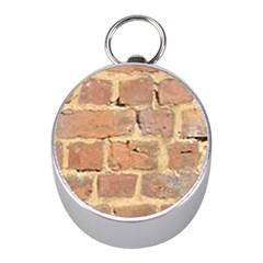 Brick Wall Mini Silver Compasses