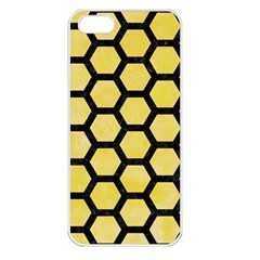 Hexagon2 Black Marble & Yellow Watercolor Apple Iphone 5 Seamless Case (white)