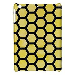 Hexagon2 Black Marble & Yellow Watercolor Apple Ipad Mini Hardshell Case