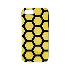 Hexagon2 Black Marble & Yellow Watercolor Apple Iphone 5 Classic Hardshell Case (pc+silicone)