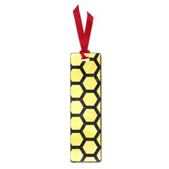 Hexagon2 Black Marble & Yellow Watercolor Small Book Marks