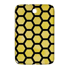 Hexagon2 Black Marble & Yellow Watercolor Samsung Galaxy Note 8 0 N5100 Hardshell Case