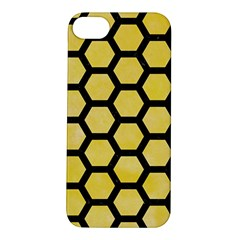Hexagon2 Black Marble & Yellow Watercolor Apple Iphone 5s/ Se Hardshell Case