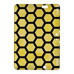Hexagon2 Black Marble & Yellow Watercolor Kindle Fire Hdx 8 9  Hardshell Case