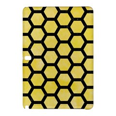 Hexagon2 Black Marble & Yellow Watercolor Samsung Galaxy Tab Pro 12 2 Hardshell Case